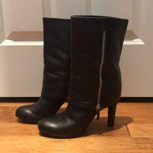 Franco Sarto black zippered boots